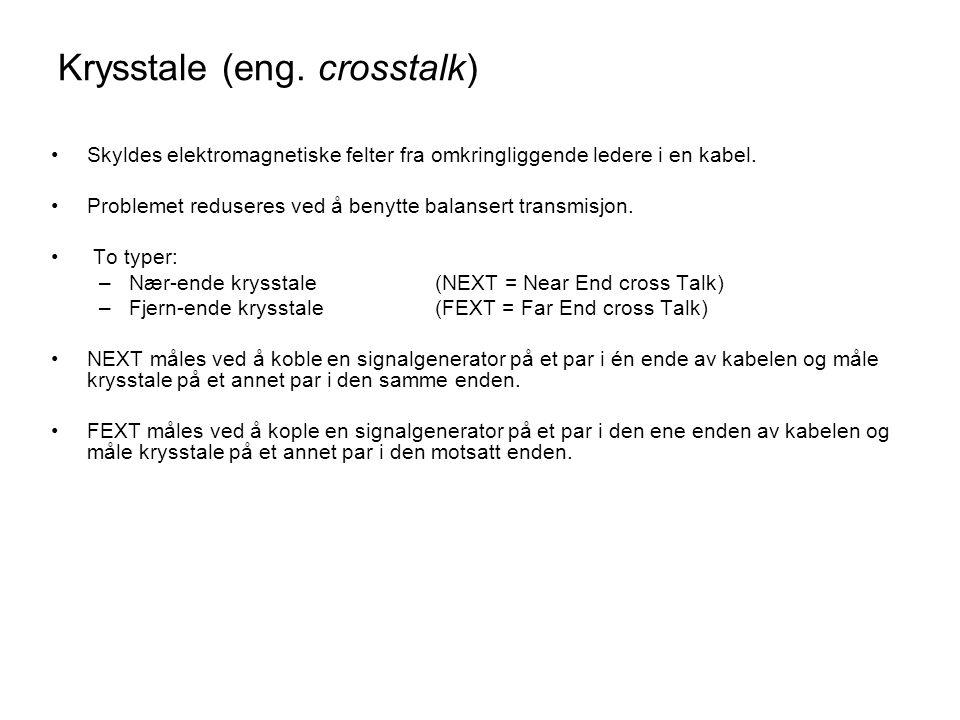 Krysstale (eng. crosstalk)