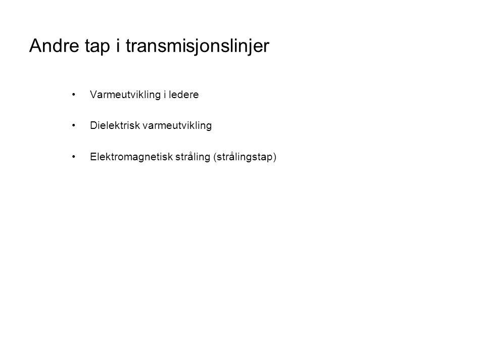 Andre tap i transmisjonslinjer
