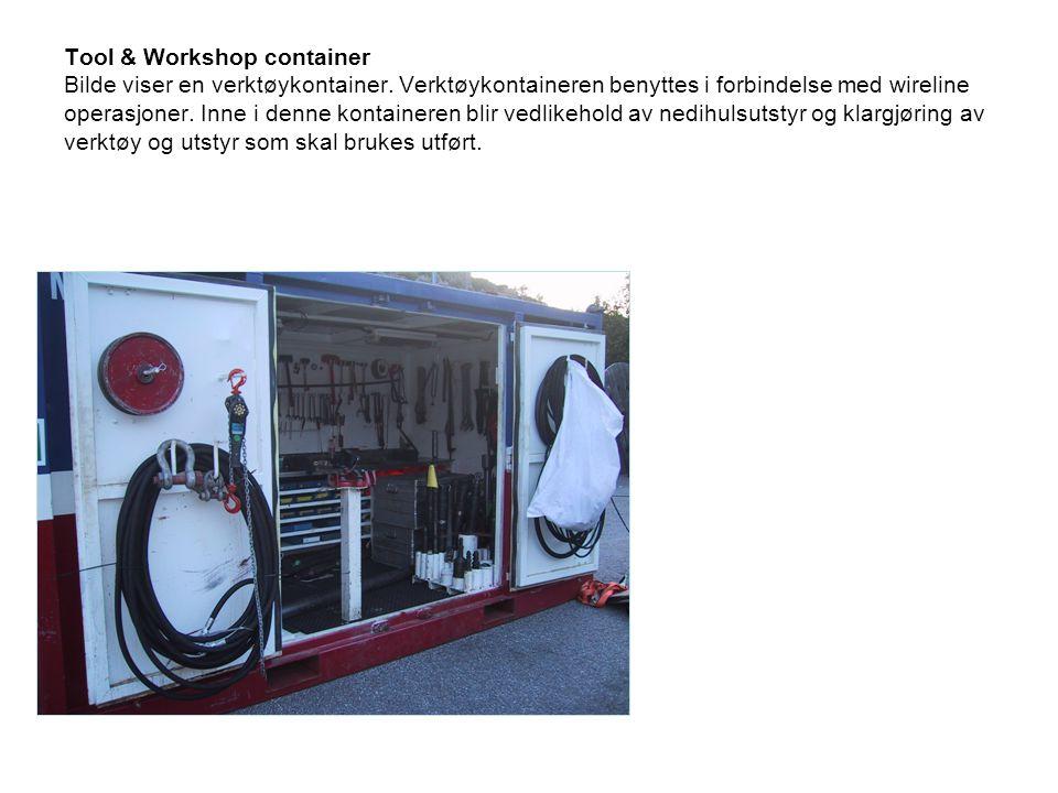 Tool & Workshop container Bilde viser en verktøykontainer