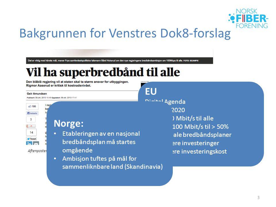 Bakgrunnen for Venstres Dok8-forslag
