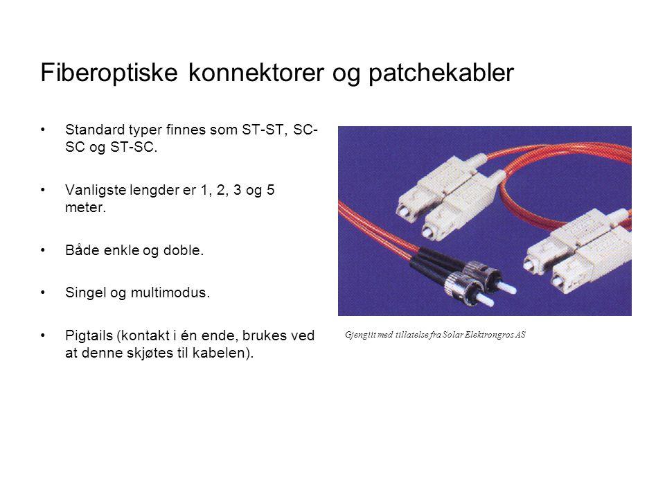Fiberoptiske konnektorer og patchekabler