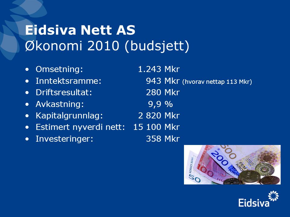 Eidsiva Nett AS Økonomi 2010 (budsjett)