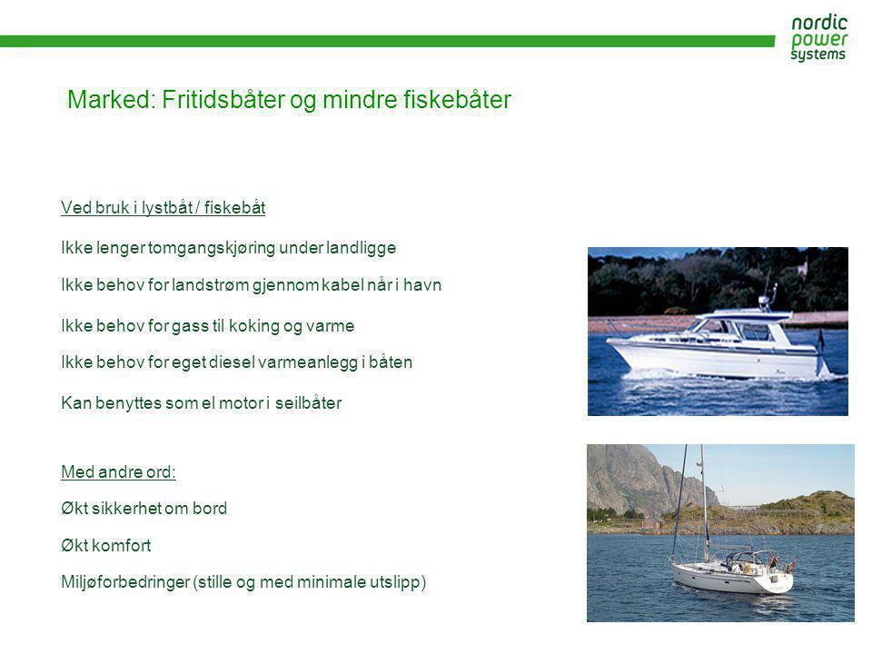 Marked: Fritidsbåter og mindre fiskebåter