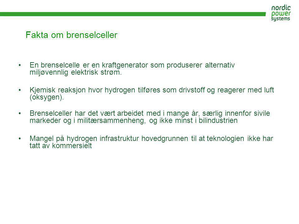 Fakta om brenselceller