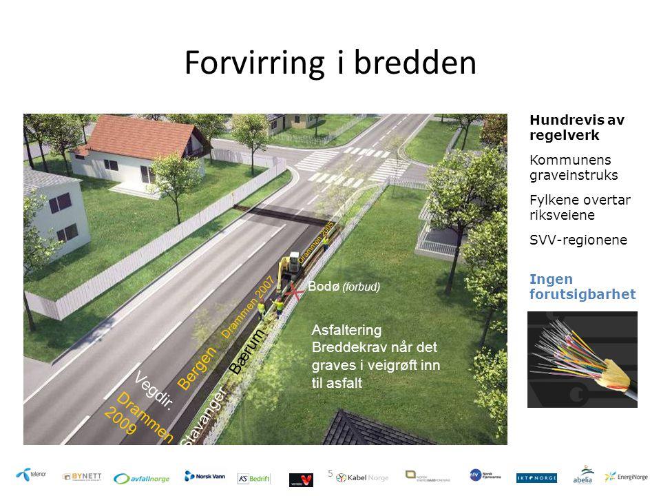 Forvirring i bredden X Vegdir. Bærum Bergen Stavanger Drammen 2009