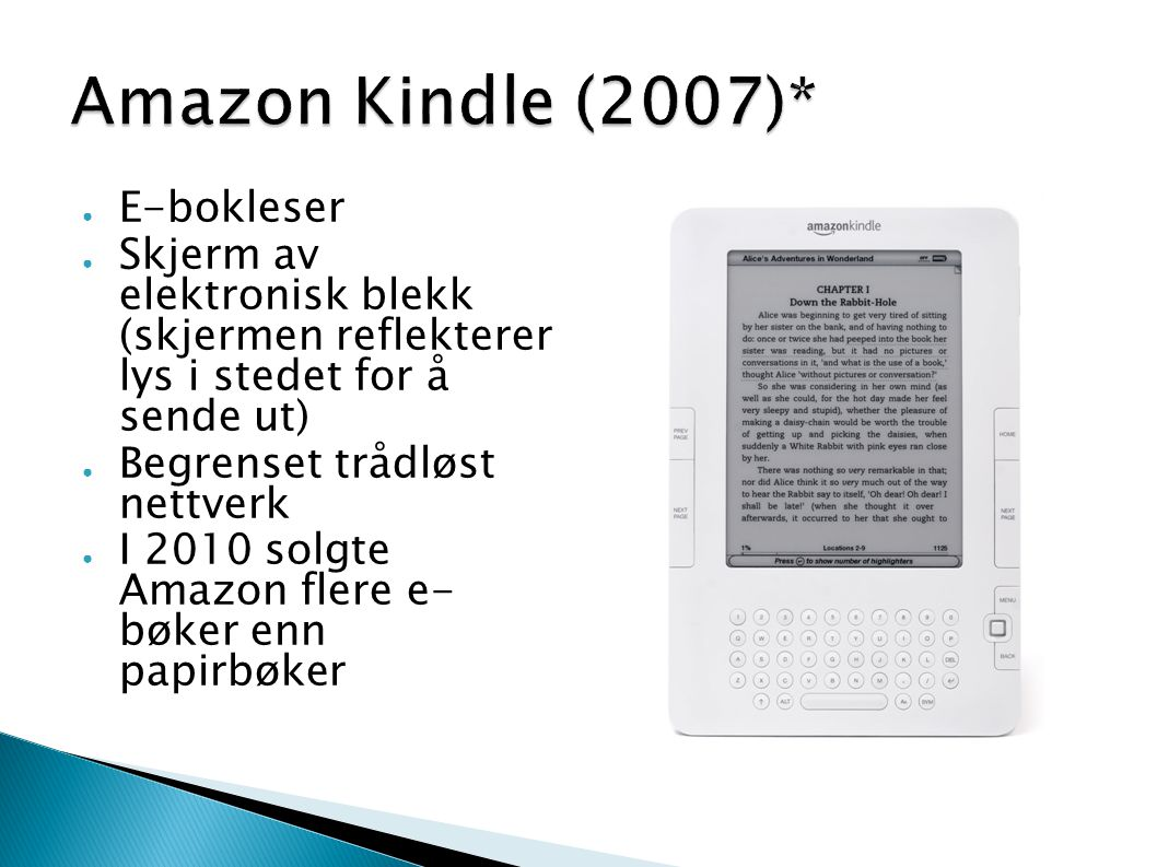 Amazon Kindle (2007)* E-bokleser