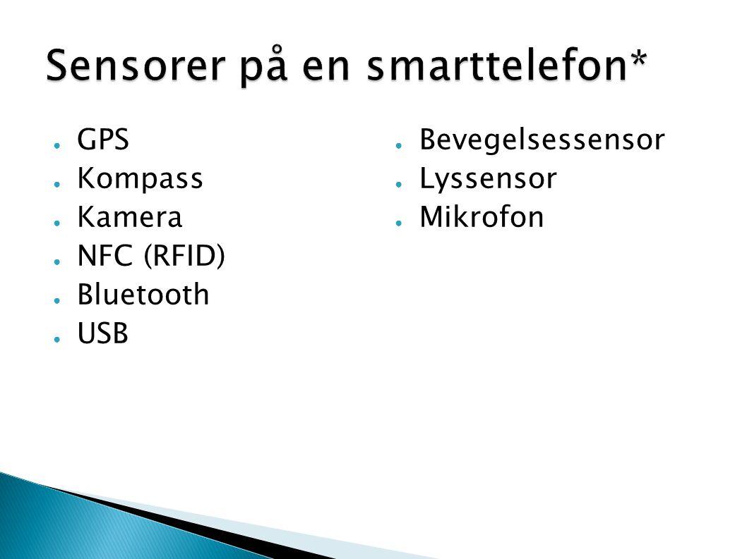 Sensorer på en smarttelefon*