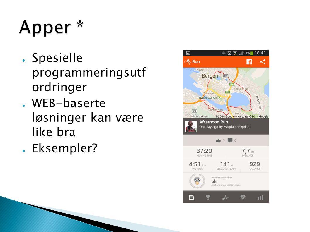 Apper * Spesielle programmeringsutf ordringer