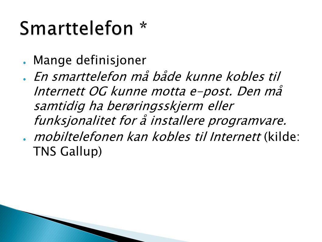 Smarttelefon * Mange definisjoner