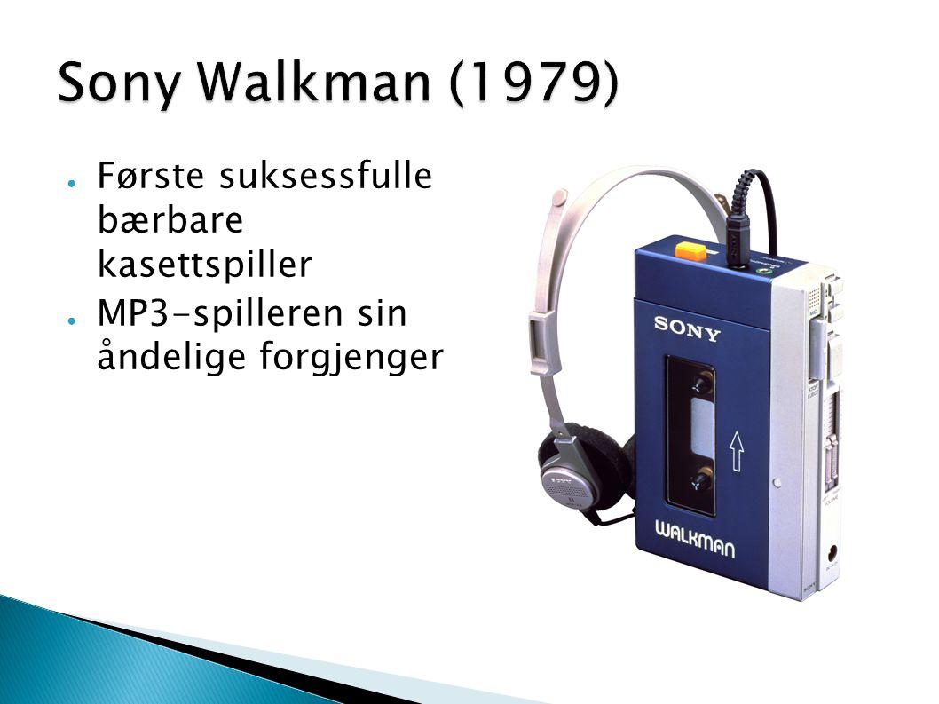 Sony Walkman (1979) Første suksessfulle bærbare kasettspiller