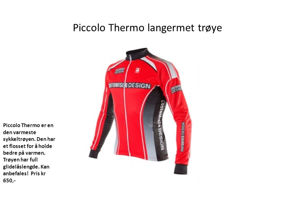 Piccolo Thermo langermet trøye