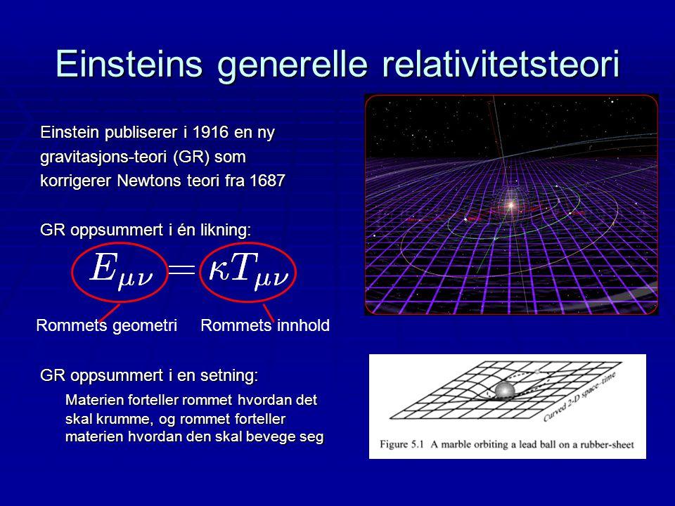 Einsteins generelle relativitetsteori