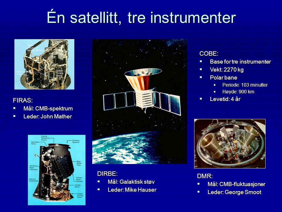 Én satellitt, tre instrumenter