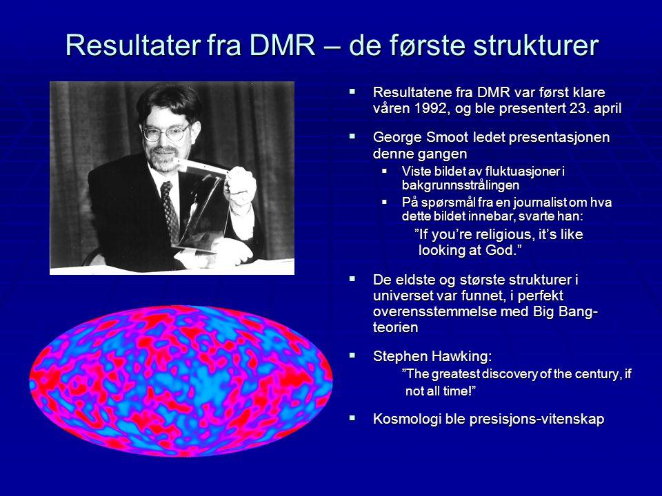 Resultater fra DMR – de første strukturer