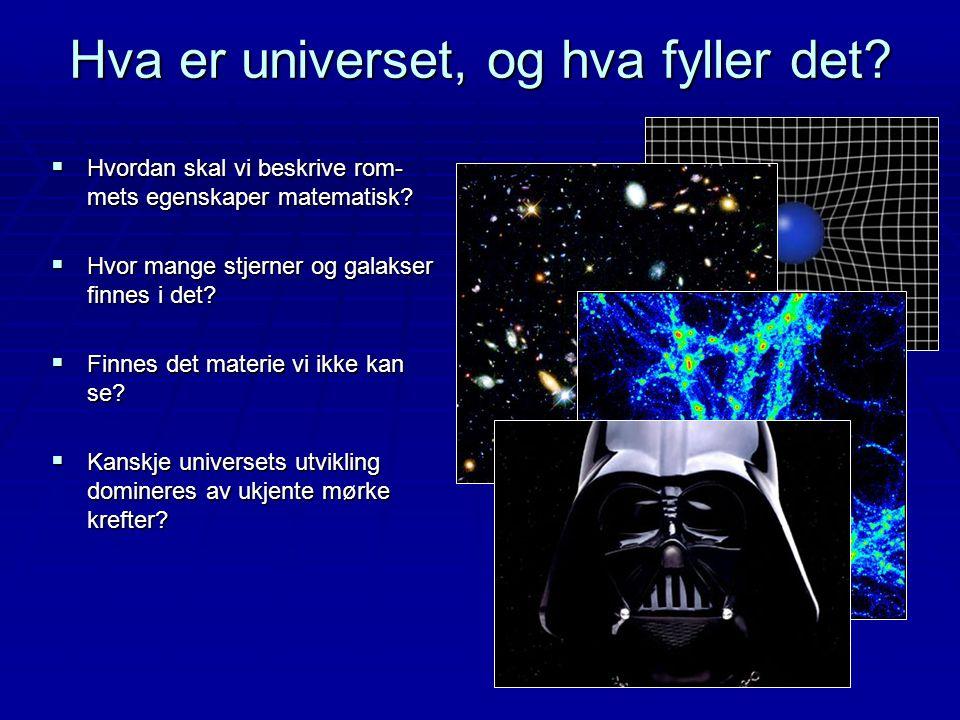 Hva er universet, og hva fyller det