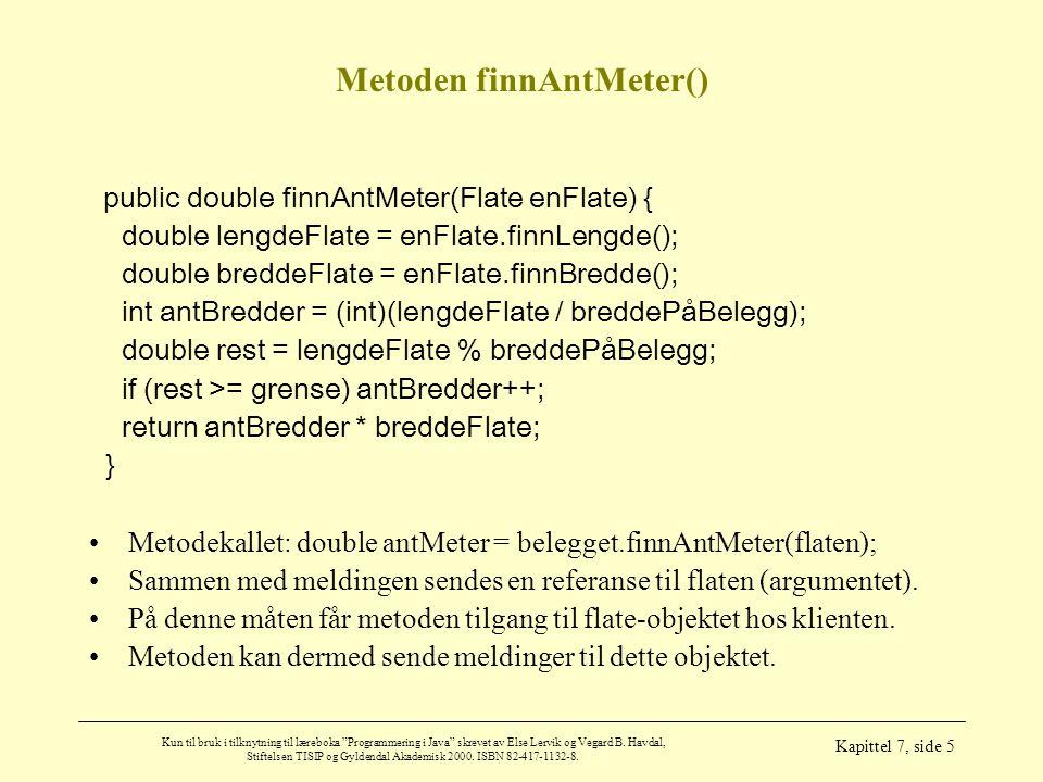 Metoden finnAntMeter()