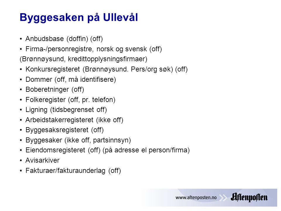 Byggesaken på Ullevål Anbudsbase (doffin) (off)