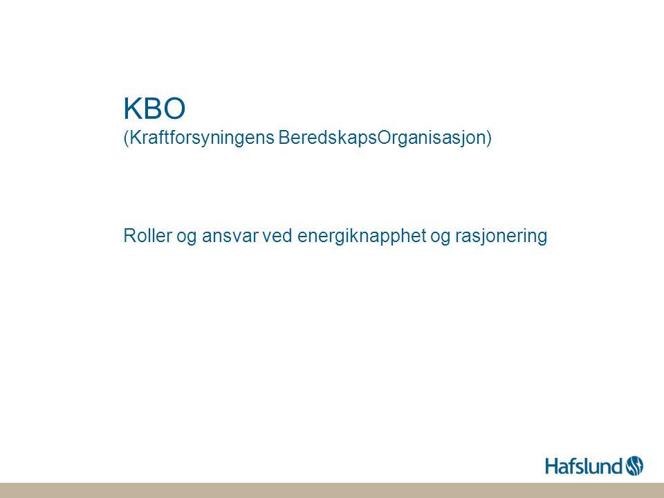 KBO (Kraftforsyningens BeredskapsOrganisasjon)