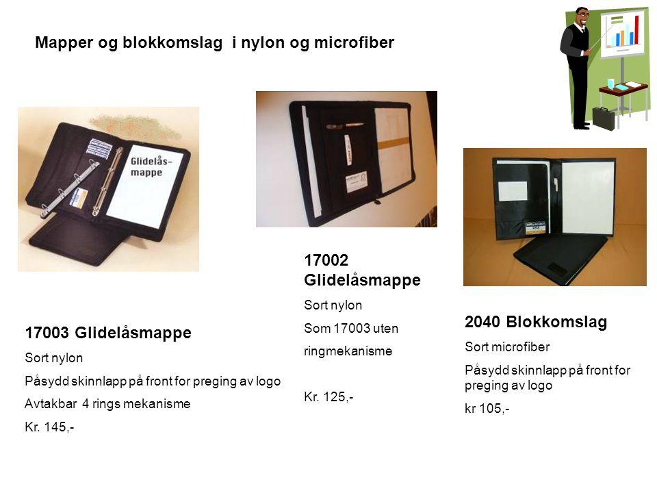 Mapper og blokkomslag i nylon og microfiber