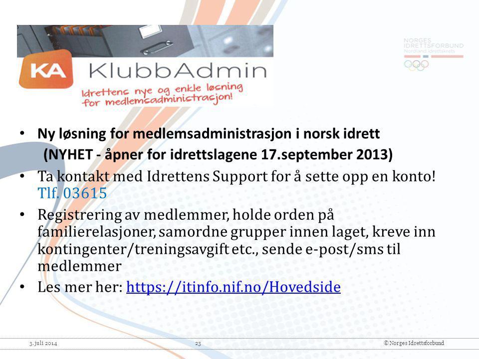 Ny løsning for medlemsadministrasjon i norsk idrett