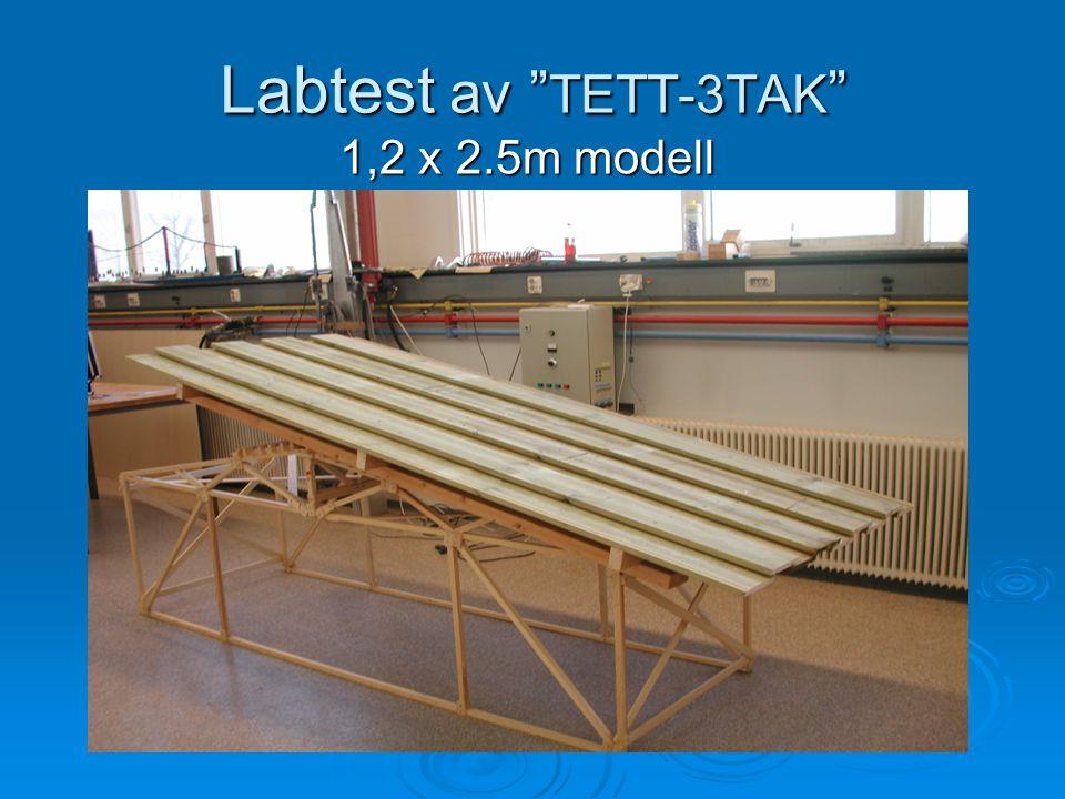 Labtest av TETT-3TAK 1,2 x 2.5m modell