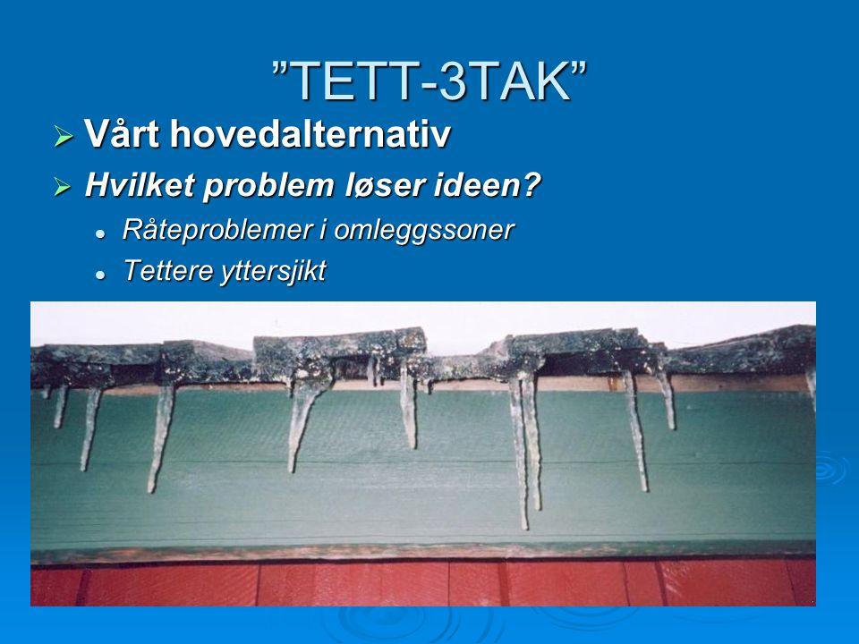 TETT-3TAK Vårt hovedalternativ Hvilket problem løser ideen