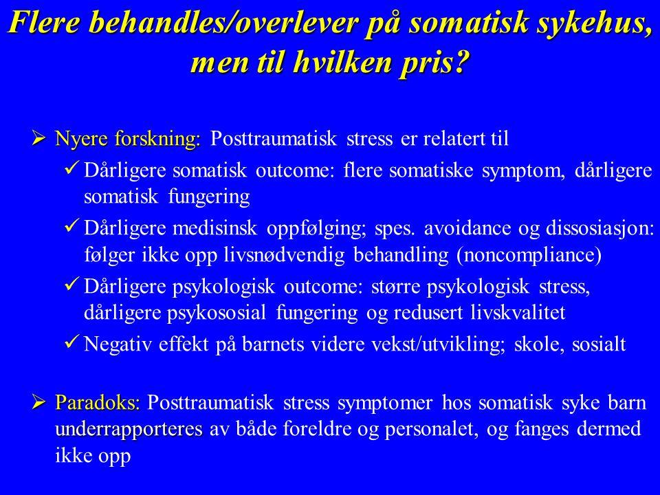Flere behandles/overlever på somatisk sykehus, men til hvilken pris