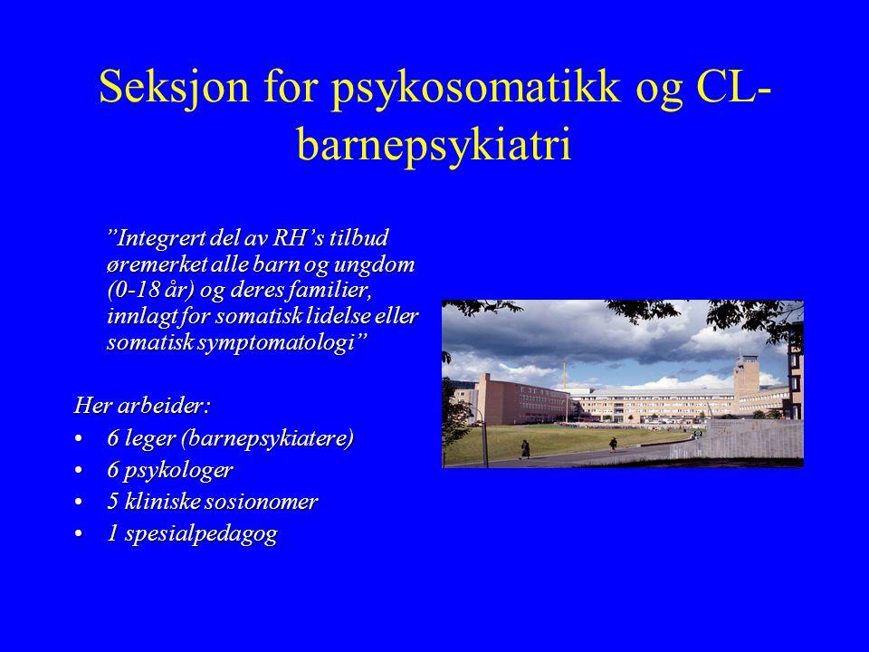 Seksjon for psykosomatikk og CL-barnepsykiatri