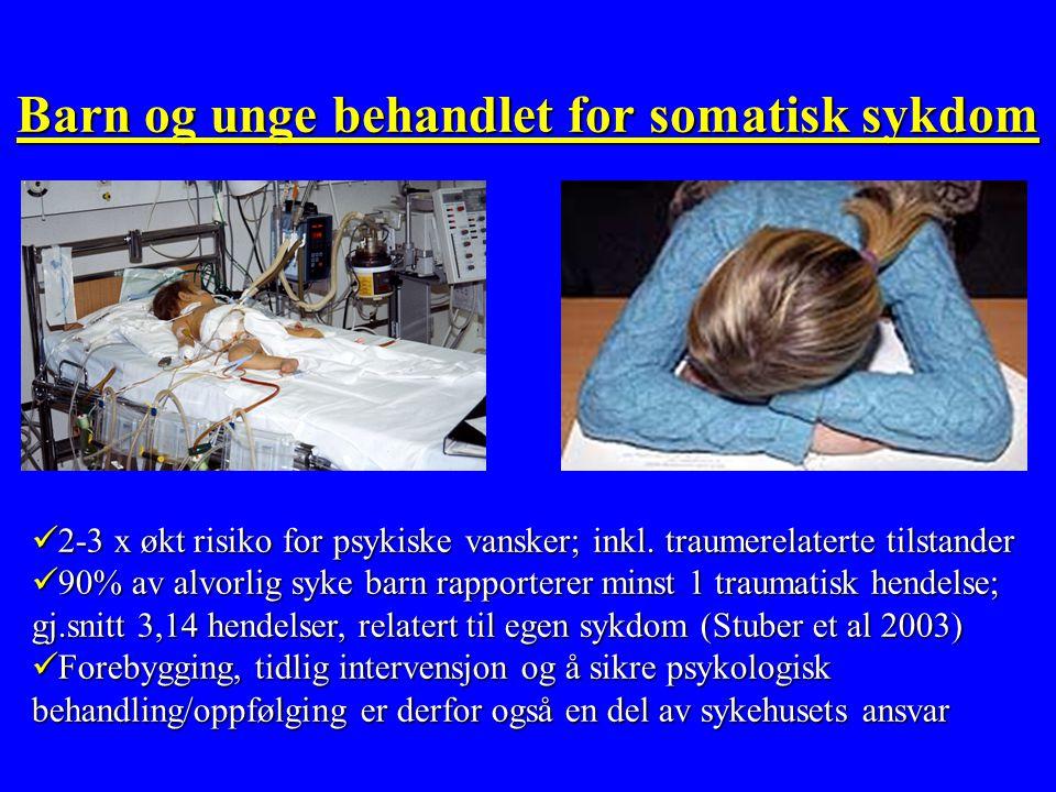 Barn og unge behandlet for somatisk sykdom