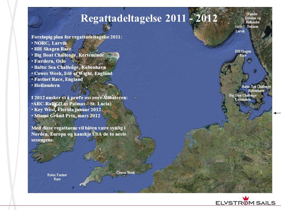 Regattadeltagelse 2011 - 2012 Færder Seilasen og. Hollender Seilasen. NORC. Larvik. Foreløpig plan for regattadeltagelse 2011: