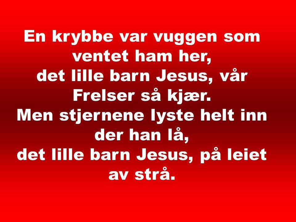 barn jesus i en krybbe lå