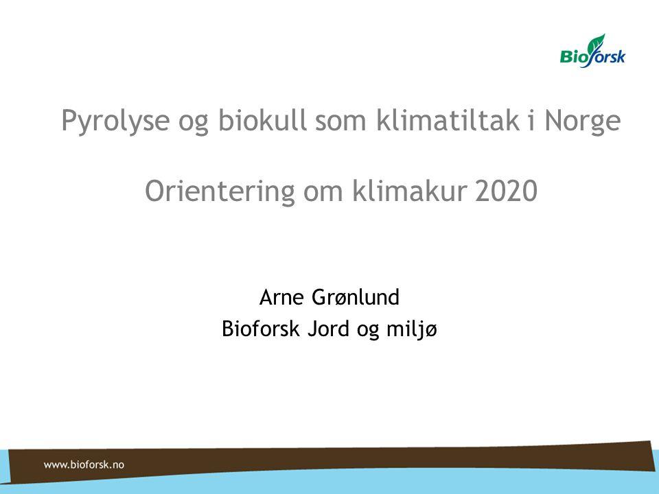 Arne Grønlund Bioforsk Jord og miljø