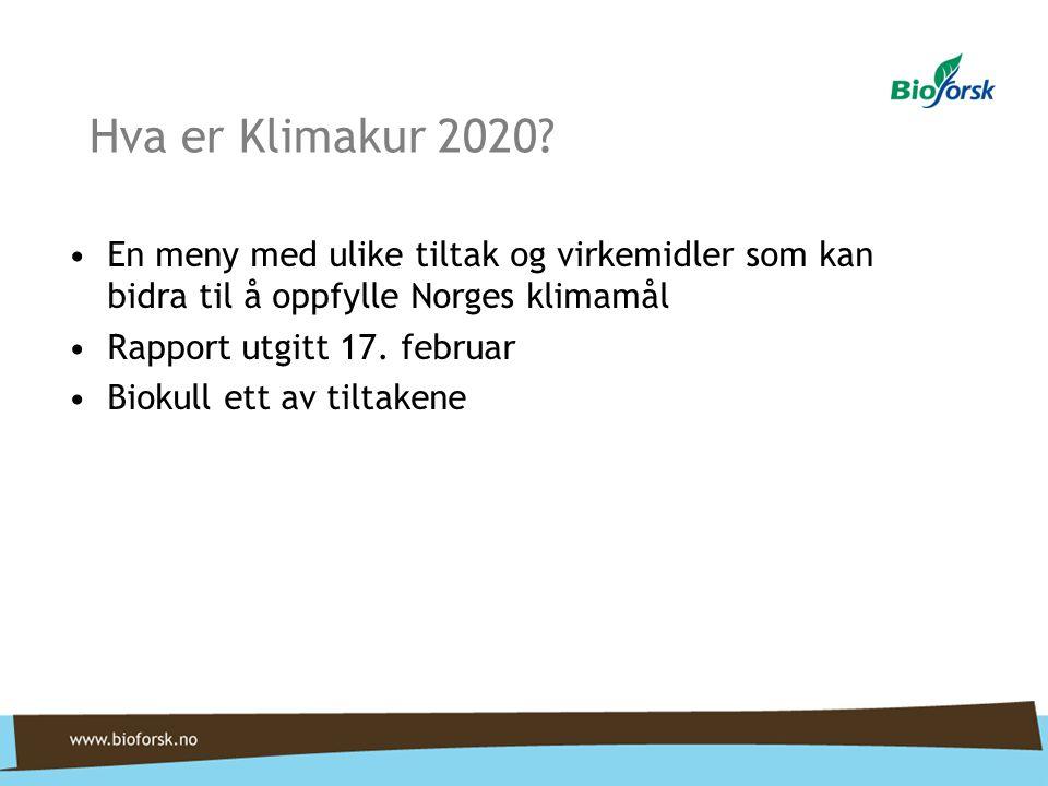 Hva er Klimakur 2020 En meny med ulike tiltak og virkemidler som kan bidra til å oppfylle Norges klimamål.