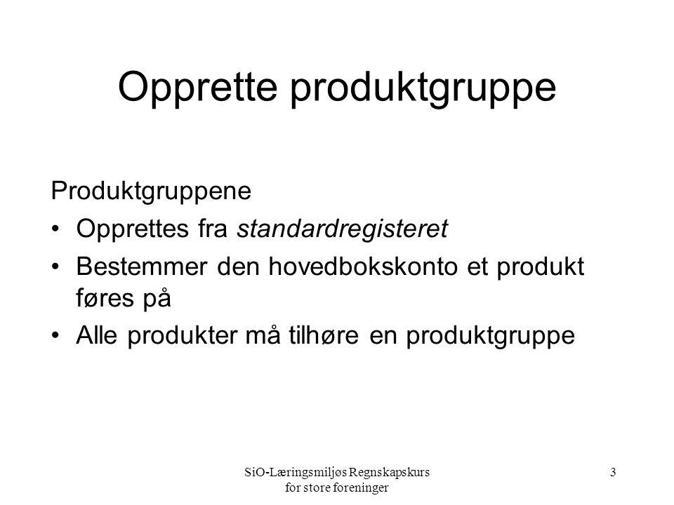 Opprette produktgruppe