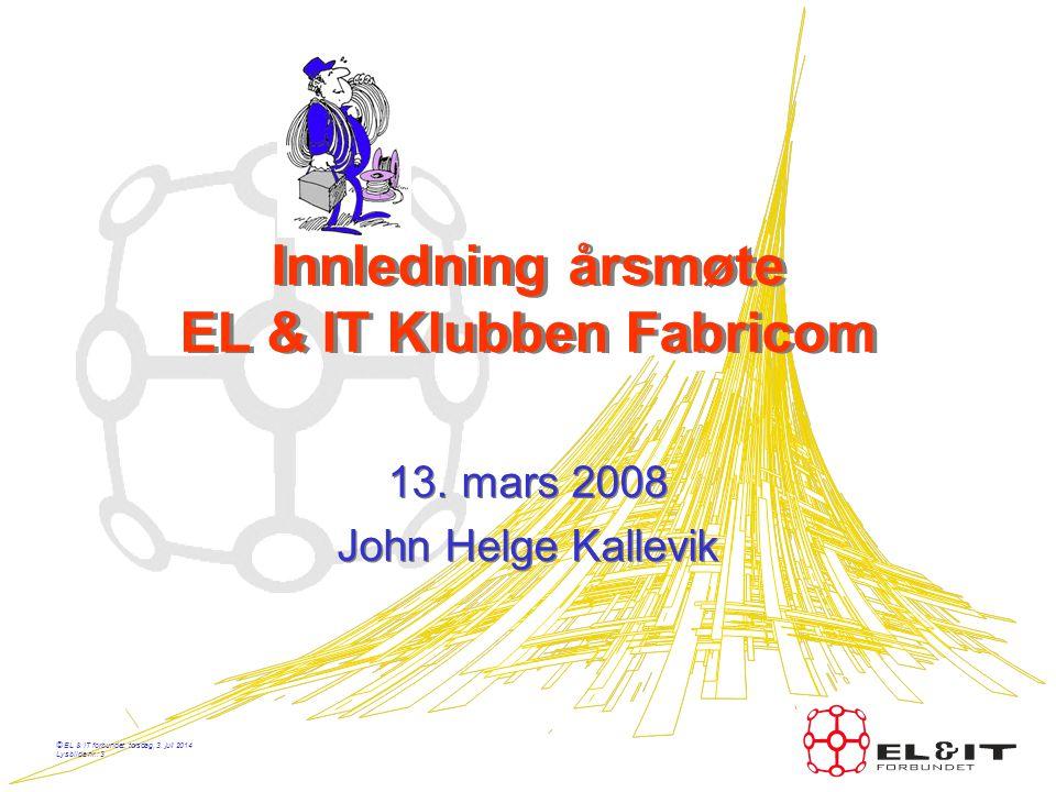 Innledning årsmøte EL & IT Klubben Fabricom