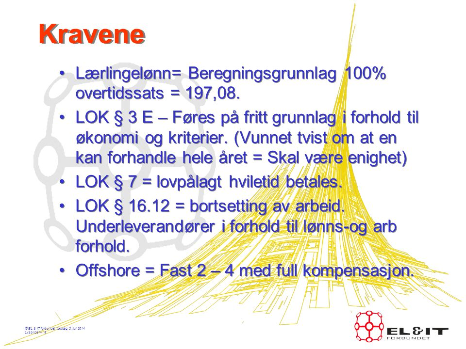 Kravene Lærlingelønn= Beregningsgrunnlag 100% overtidssats = 197,08.
