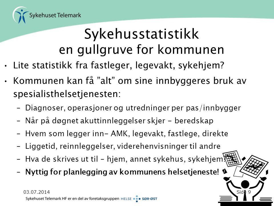 Sykehusstatistikk en gullgruve for kommunen