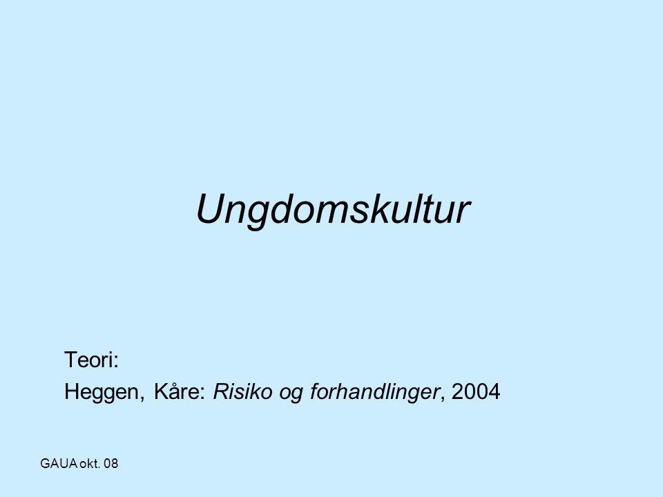 Teori: Heggen, Kåre: Risiko og forhandlinger, 2004