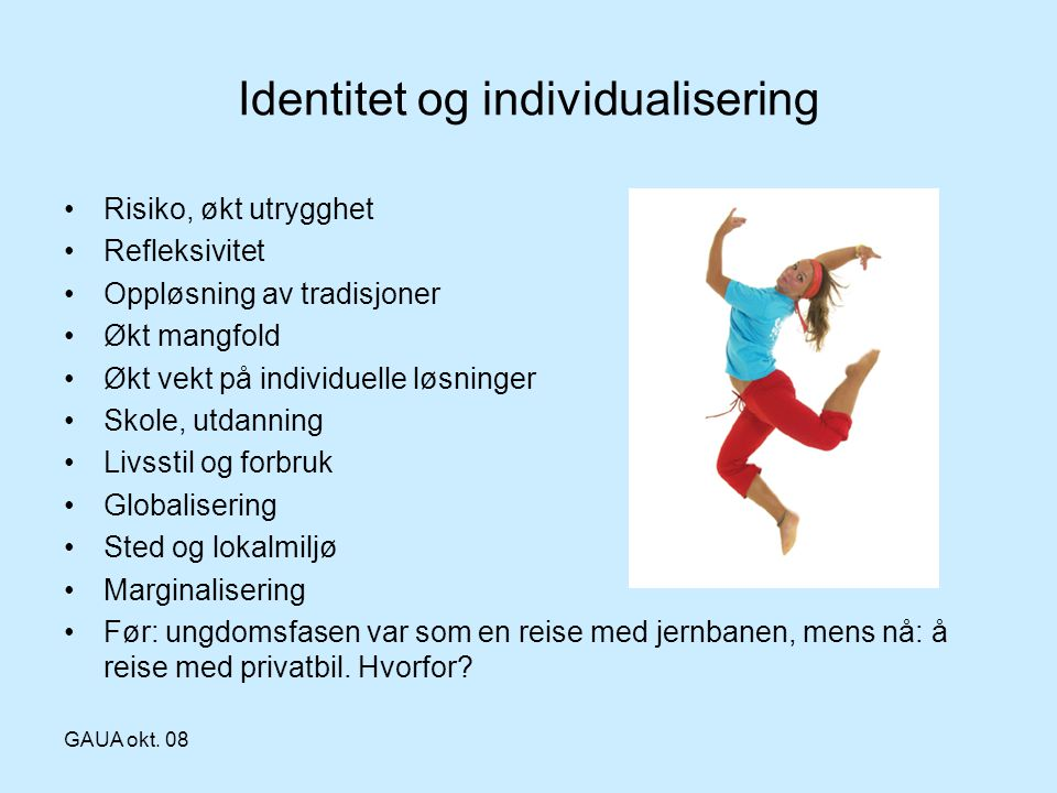 Identitet og individualisering