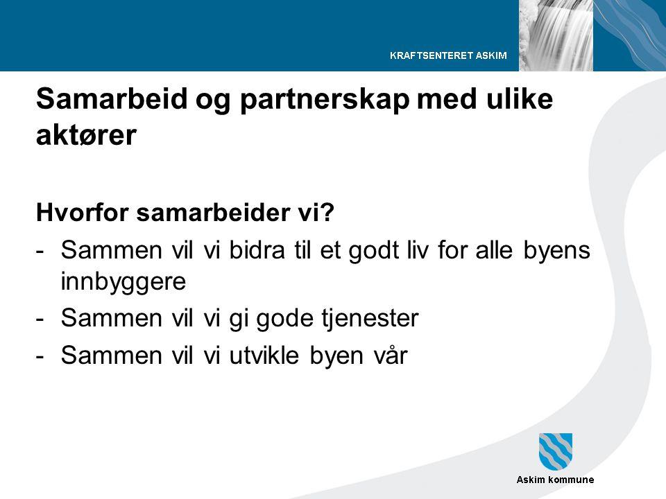 Samarbeid og partnerskap med ulike aktører