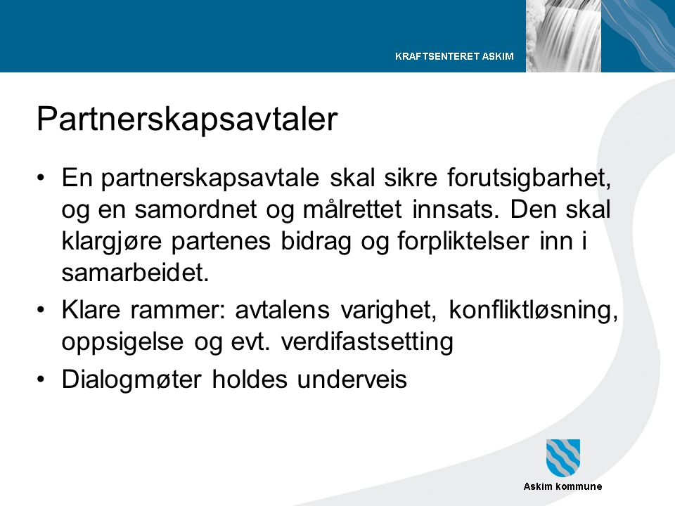 Partnerskapsavtaler