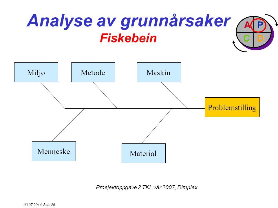 Analyse av grunnårsaker Fiskebein