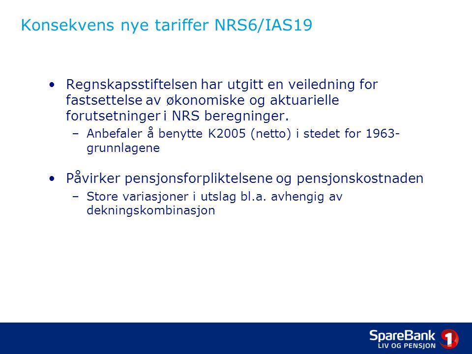 Konsekvens nye tariffer NRS6/IAS19