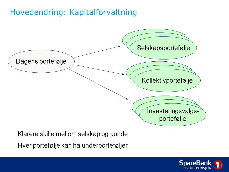 Hovedendring: Kapitalforvaltning