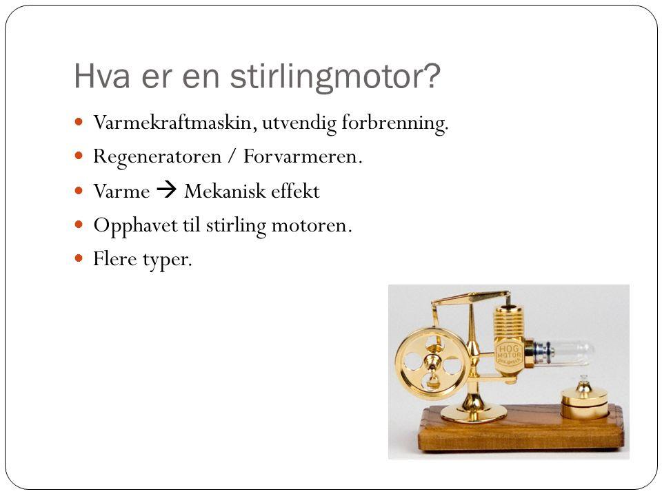 Hva er en stirlingmotor