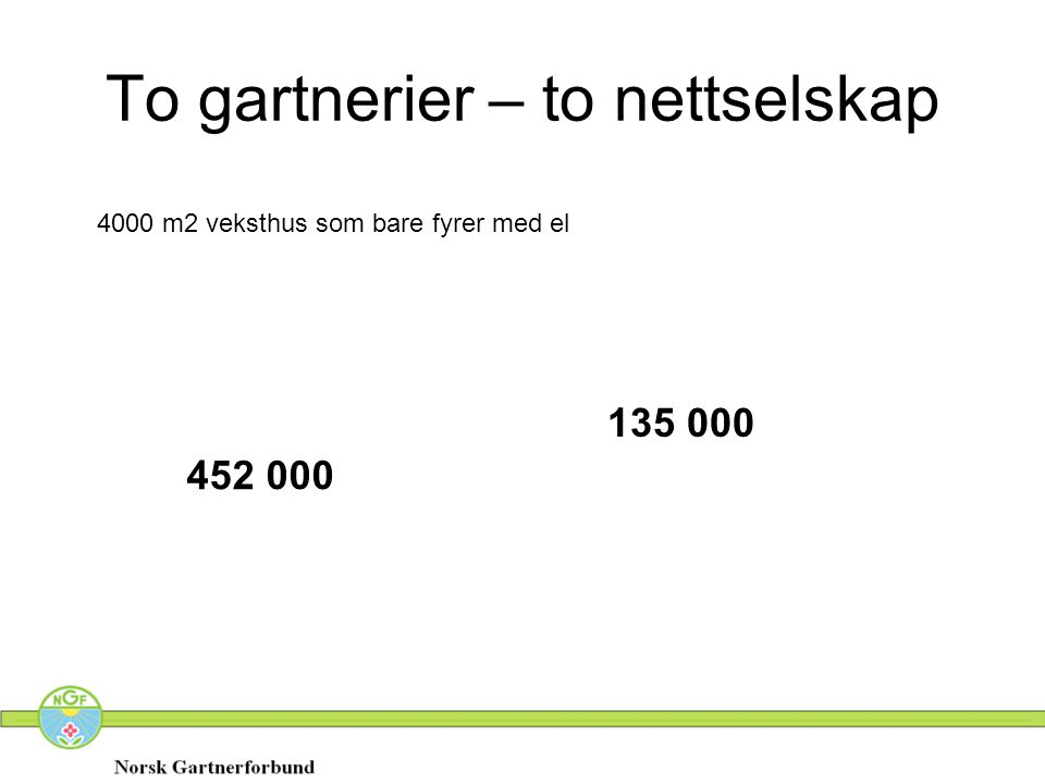 To gartnerier – to nettselskap