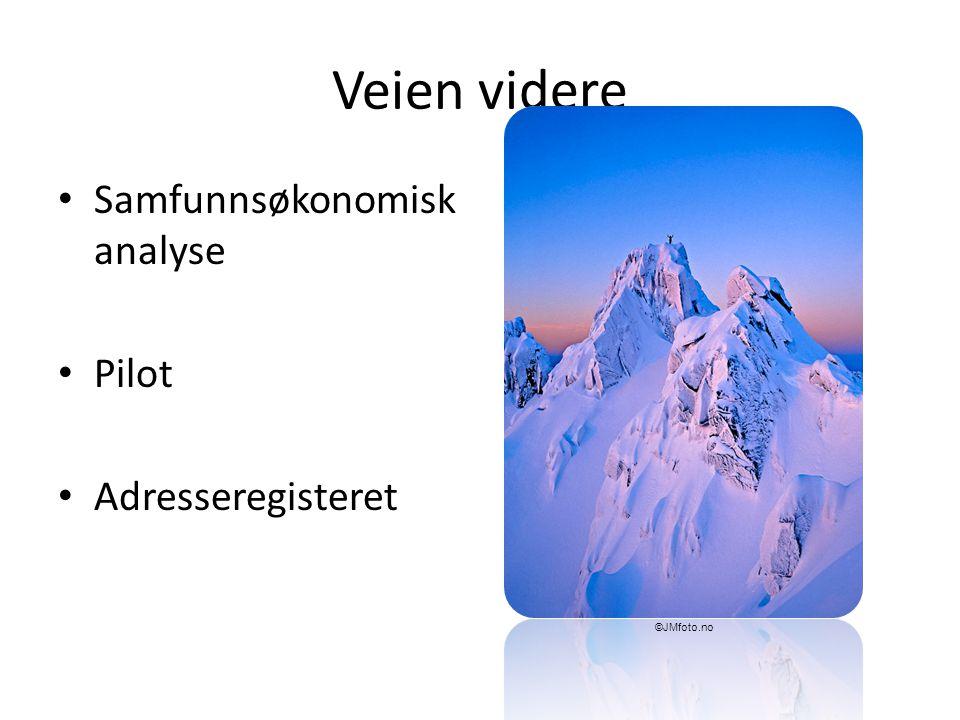 Veien videre Samfunnsøkonomisk analyse Pilot Adresseregisteret