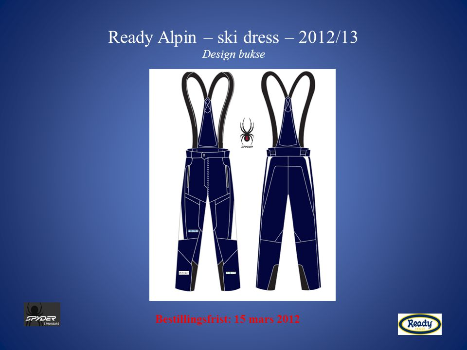 Ready Alpin – ski dress – 2012/13 Design bukse