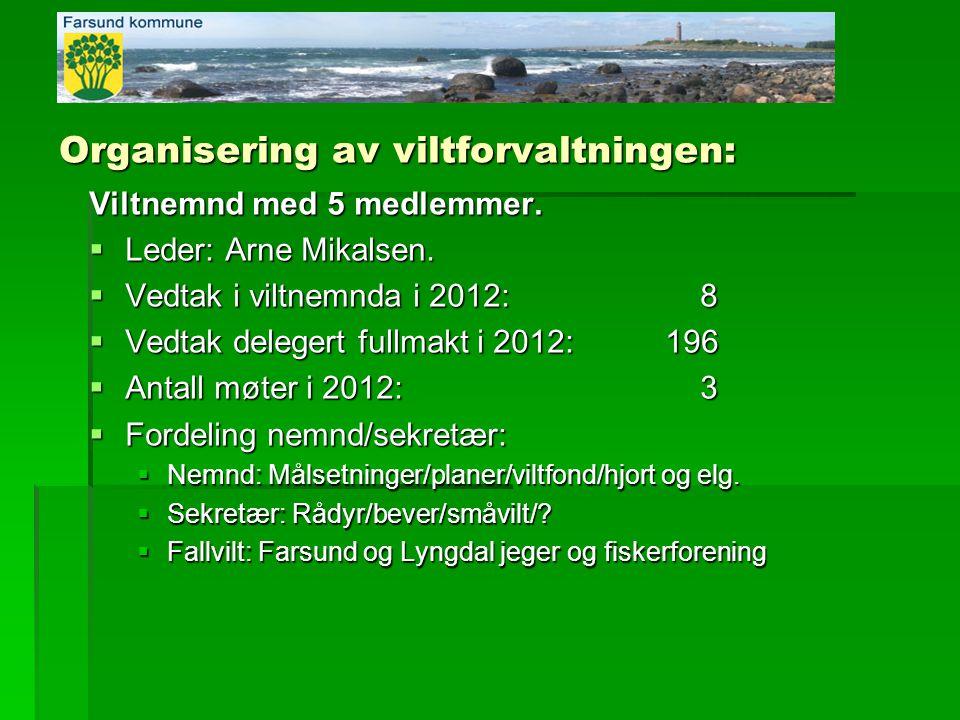 Organisering av viltforvaltningen: