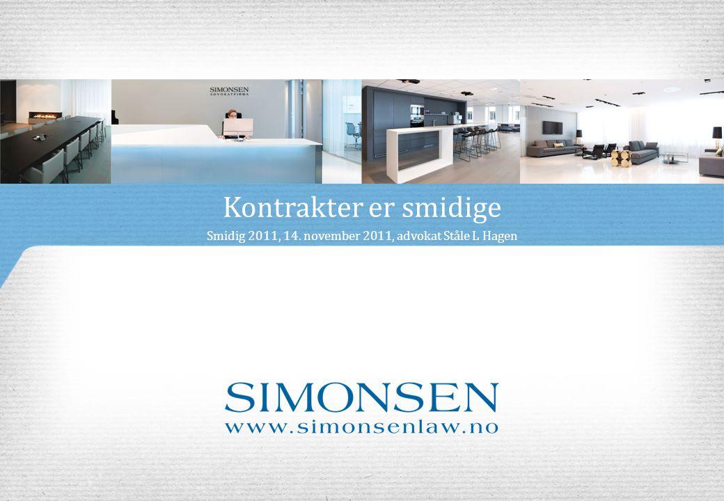 Smidig 2011, 14. november 2011, advokat Ståle L Hagen